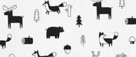 Muurstickers bosfiguren 32 stuks