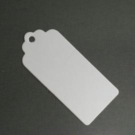 Cadeaulabels wit karton per 25 stuks