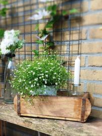 Decoratiebak steenmal 1 vak van licht hout