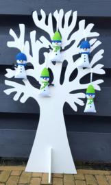 Setje van 2 sneeuwpoppetjes
