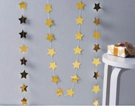Slinger gouden sterren 4 meter lang
