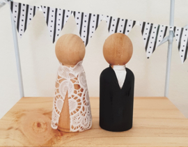 Bruidspaar peg doll