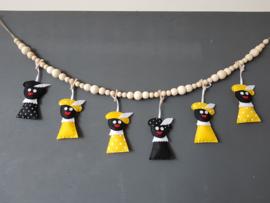 Zwarte Pietjes okergeel 2 stuks