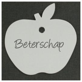 Appel karton wit setje van 25 stuks