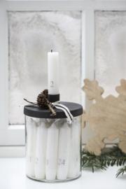 Glas met kandelaar metaal zwart Ib Laursen