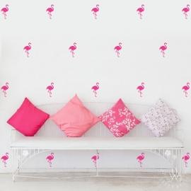 Muurstickers flamingo roze 40 stuks