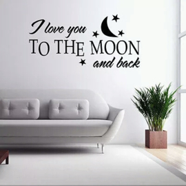 Muursticker Love you to the moon and back