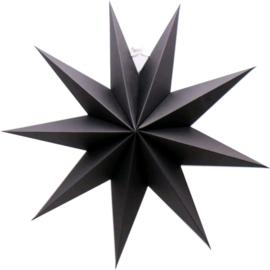 Ster papier zwart