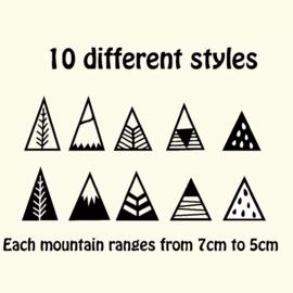 Muurstickers bergen 20 stuks
