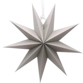 Kerstster papier grijs