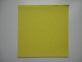 Vilt geel met witte stippen