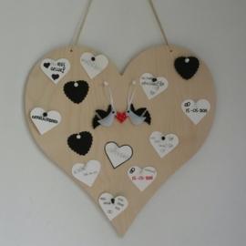 Prikbord hart berkenhout