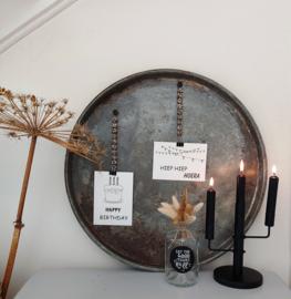 Magneetbord dienblad zink rond groot 55 cm