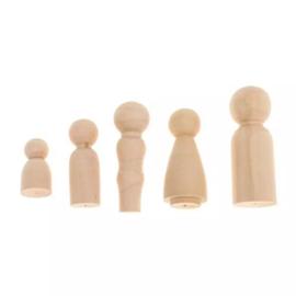 Peg dolls familie 5 stuks