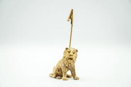 Kaarthouder leeuw goud