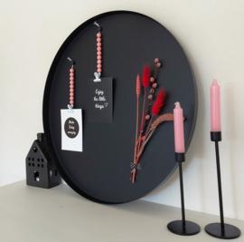 Magneetbord dienblad zwart rond 59,5 cm