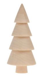 Houten dennenboom 10cm
