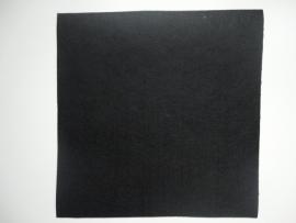 Vilt lapje zwart