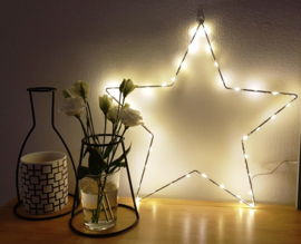 Ster wit met lichtjes