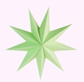 Ster papier groen