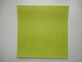 Vilt lapje geel/groen