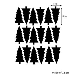Muurstickers bomen 18 stuks