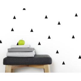 Muurstickers driehoeken zwart 56 stuks
