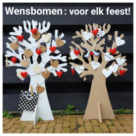 Wensboom hout 73cm
