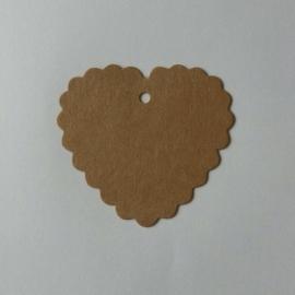 Grußkarten Karton braun 25 Stück