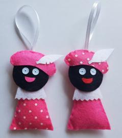 Zwarte Pietjes roze 2 stuks