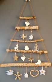 Kerstboom houten kralen