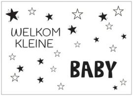 Kaart welkom kleine baby