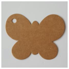 Wenskaartje vlinder karton per 25 stuks