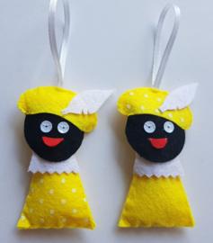 Zwarte Pietjes geel 2 stuks