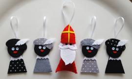 Zwarte Pietjes grijs 2 stuks