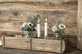 Decoratiebak steenmal 2 vakken van hout
