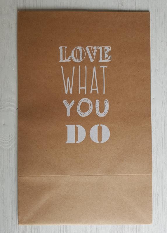Cadeauzak 'Love what you do'
