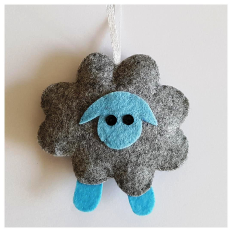 Schaap grijs/lichtblauw