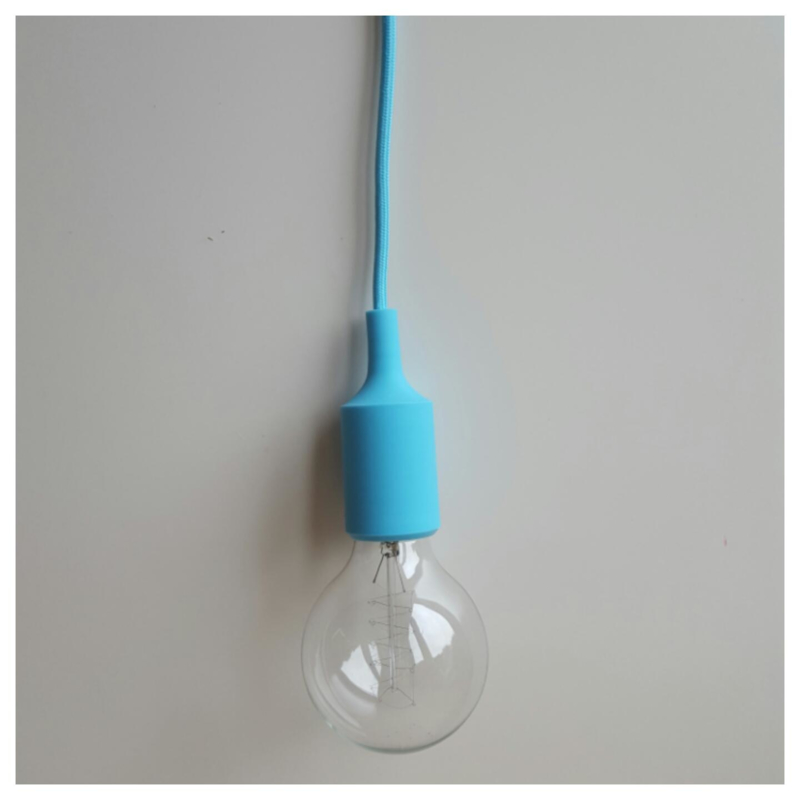 Hanglamp lichtblauw