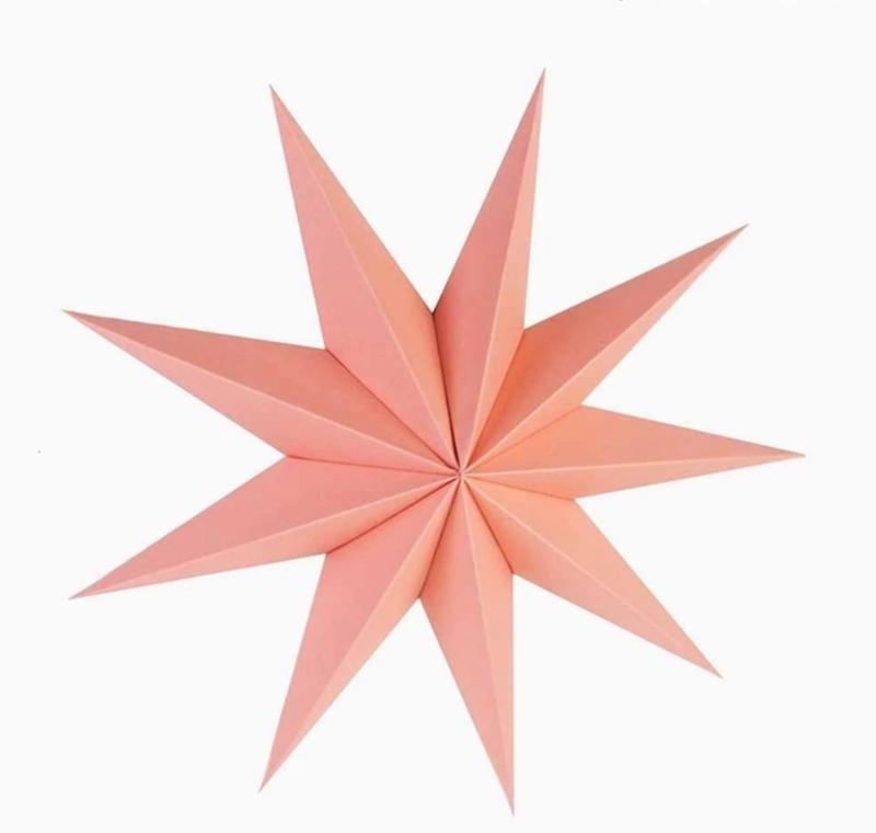 Ster papier roze