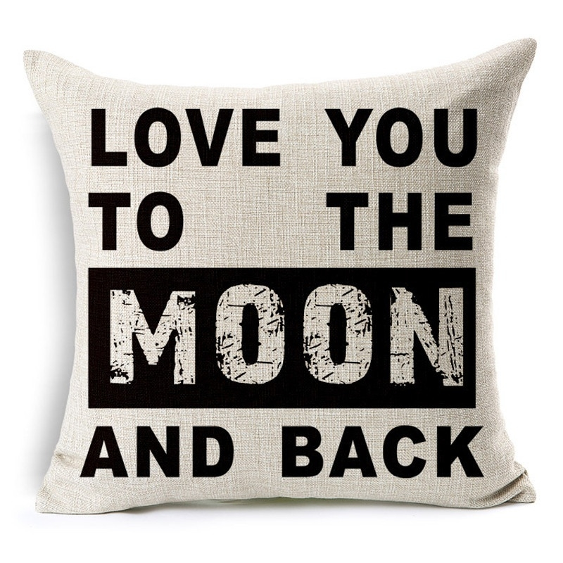 Kussenhoes love you till the moon