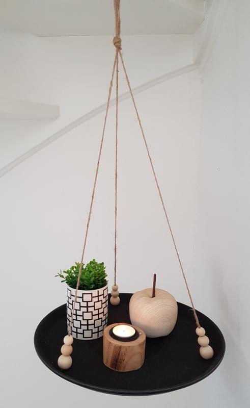 Hangtafel zwart 38cm