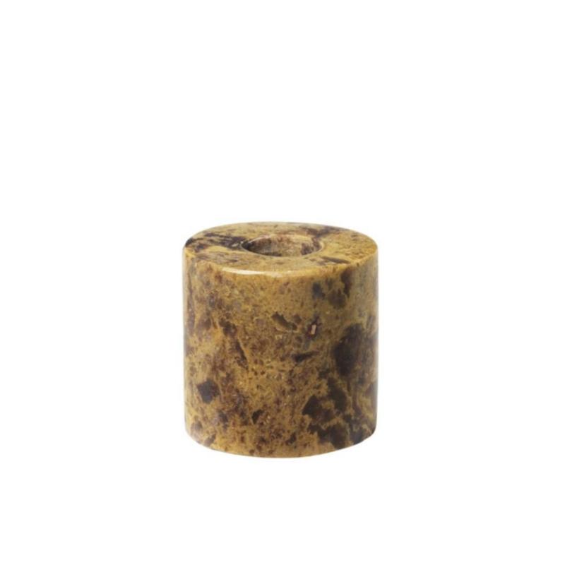 Kandelaar bruin voor potloodkaarsje