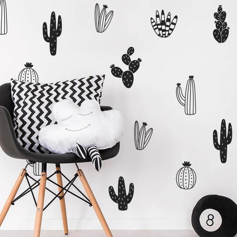 Muurstickers cactussen 16 stuks