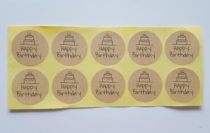 Sticker Happy Birthday vel met 10 stuks craft