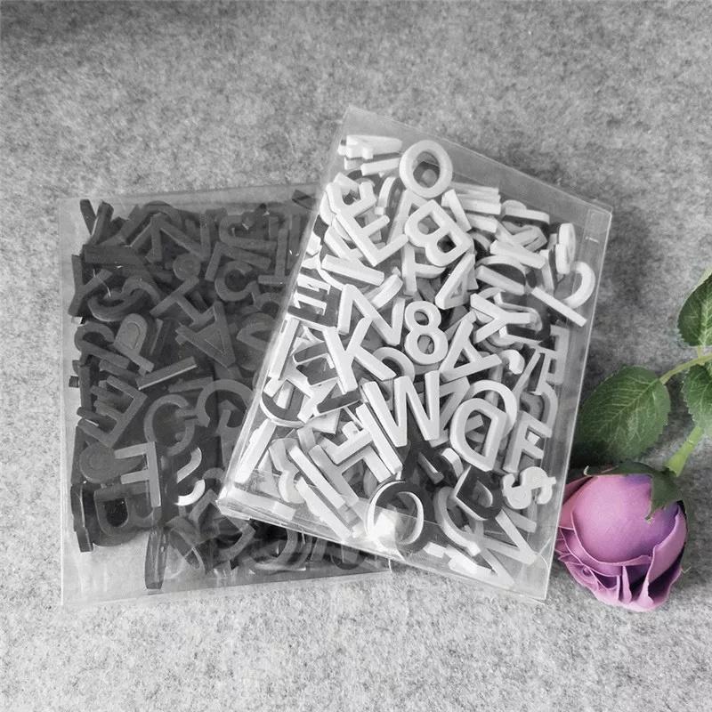 Magneetletters, cijfers en tekens 180 stuks wit