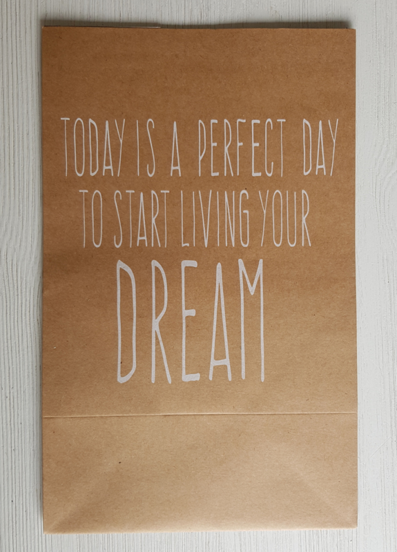 Cadeauzak 'Today is a perfect day'
