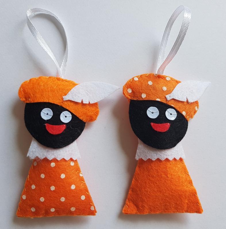 Zwarte Pietjes oranje 2 stuks