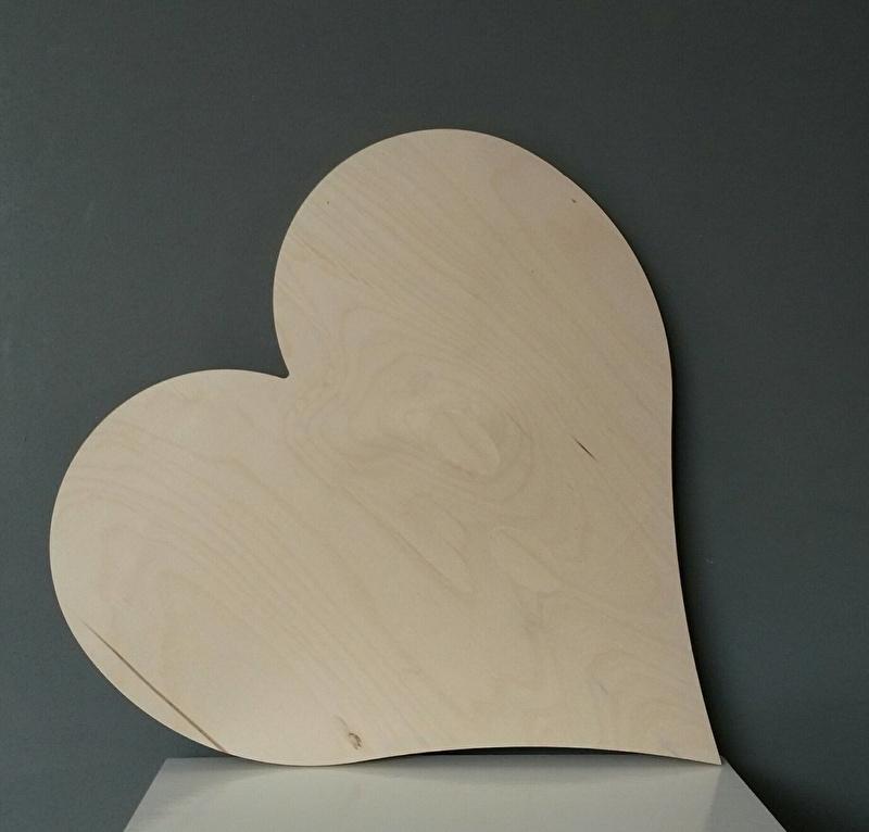 Hart berkenhout 50cm