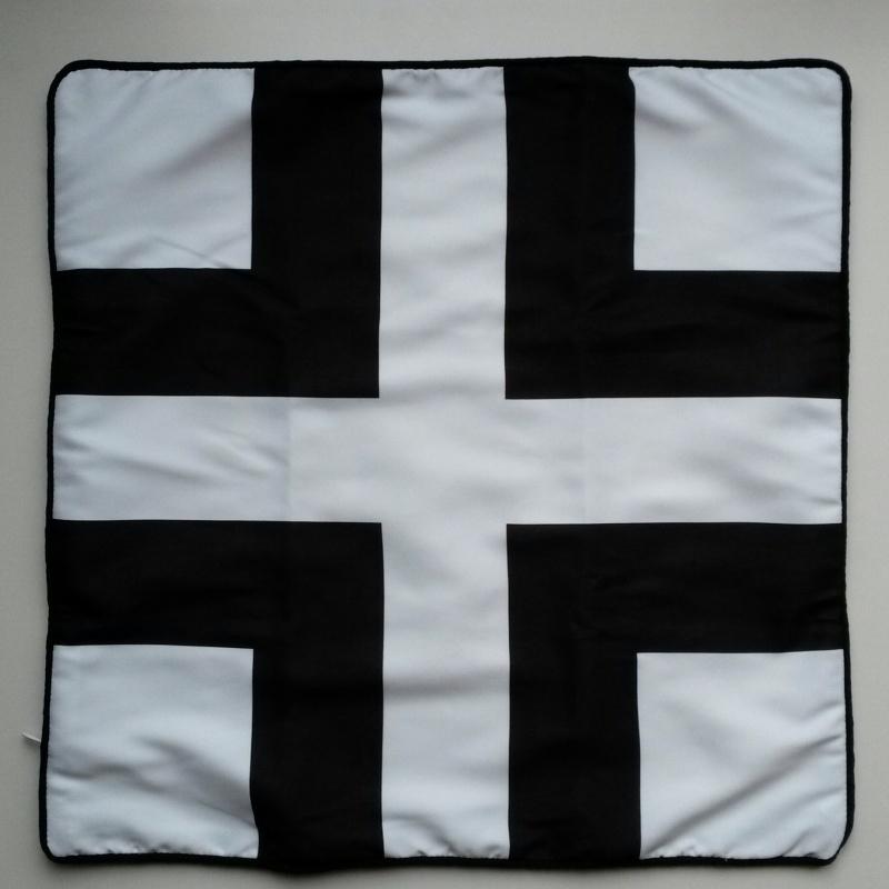 Kussenhoes plus zwart/wit